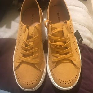 TORRID MUSTARD PERFORATED SNEAKER SIZE 11W NEW
